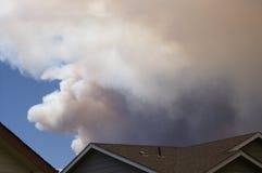 Incendio forestal de la quebrada de Buckhorn Fotos de archivo libres de regalías