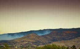 Incendio forestale estinto immagine stock libera da diritti