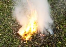 Incendio fuera de control Fotografía de archivo libre de regalías