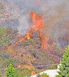 Incendio fuera de control Foto de archivo libre de regalías