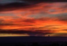 Incendio fuera de control de Colorado de las buenas noches imagen de archivo libre de regalías