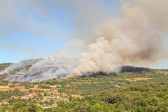 Incendio violento Fotografie Stock