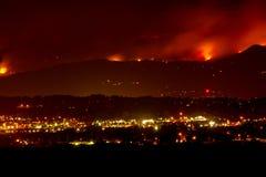 Incendio violento del canyon di Fourmile immagine stock libera da diritti