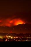 Incendio violento Flareup Fotografia Stock Libera da Diritti