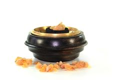 Incense. An incense bowl on a white background Stock Images