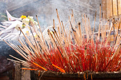 Incense. The incense altar to worship me, what is the culture of Thailand Stock Photography