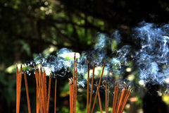 Incense. Smoke incense and incense in a Buddhist ceremony Royalty Free Stock Photo