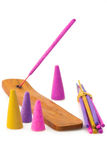 Incense aroma sticks Stock Images