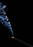 Incense on black Stock Image