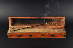Incense box. On black background Stock Photography
