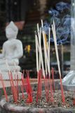 Incense and Buddha Royalty Free Stock Images