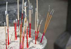 Incense in a Buddhist temple Royalty Free Stock Images