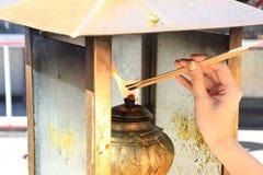 Incense buddhist worship Royalty Free Stock Photography