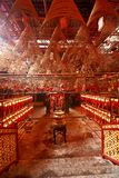 Incense buring in a Chinese Tample Stock Photography