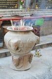 Incense burner. For Buddha's Pagoda worship at Hari-punchai temple Thailand Royalty Free Stock Photography