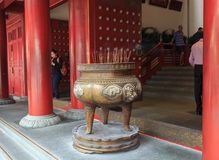 Incense Burner of The Buddha Tooth Relic Temple in Chinatown, Si Royalty Free Stock Photos
