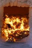 Incense burner burning zhiqian (sheol money ) Royalty Free Stock Images