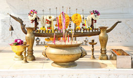 Incense burner and flower Royalty Free Stock Photos