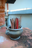 Incense burner. Joss Stick Pot pay respect to small Royalty Free Stock Photo