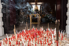 Incense burner at pillar province Stock Photography