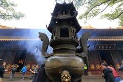 Incense burner on putuoshan island Stock Photos