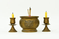 Incense burner. Set the buddha image at home Stock Photo