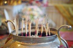 Incense burner in temple. Incense burner in thai temple Stock Images