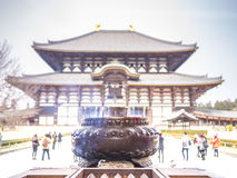 The incense burner in Todai Ji temple Royalty Free Stock Photography