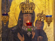 Incense Burners Madonna Icon Saint Nicholas Church Kiev Ukraine Stock Photography