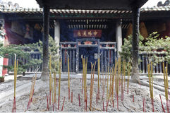 Incense burning in chinese temple Stock Photography