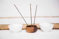 Incense burning and perfumed candles Stock Image