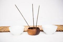 Incense burning and perfumed candles Royalty Free Stock Photo