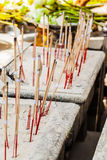 Incense. Burning incense sticks in a buddhist temple in bangkok, thailand Stock Photography