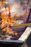 Incense burnt for prayers Royalty Free Stock Photo