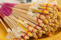 Incense and candle. From thailand Stock Photo