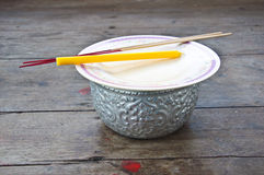 Incense and candle Stock Image