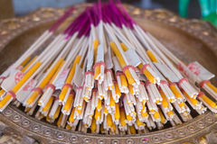 Incense, candles for the altar Royalty Free Stock Image