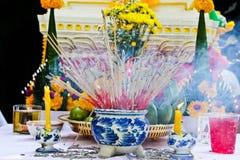 Incense censer respect God. Incense to worship God and Incense to worship the Buddha Stock Photography