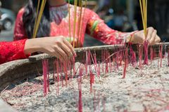 Incense ceremony Royalty Free Stock Photography