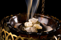 Incense on charcoal Royalty Free Stock Photography