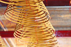 Incense coil in a Chinese temple Stock Photo