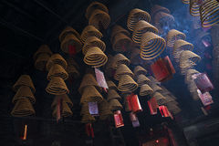 Incense coils burning in a-ma temple in macao china Royalty Free Stock Photo