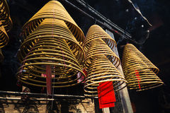 Incense coils burning in a-ma temple in macao china Royalty Free Stock Photography