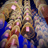 Incense Coils in Chinese Temple Decoration Concept Royalty Free Stock Image