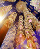 Incense Coils in Chinese Temple Decoration Concept Royalty Free Stock Photo