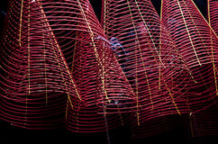 Incense coils chinese temple ho chi minh vietnam Stock Photo