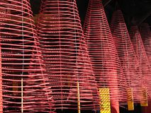 Incense coils in Phuoc Kien Assembly Hall, Hoi An, Vietnam Stock Photo