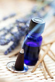 Incense cones and aromatherapy oil Stock Photo