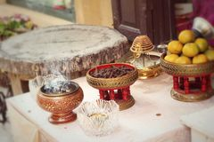 Incense cones aromatic brown groups Stock Images