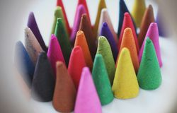 Incense cones. Is colorful, relax and fragrant Stock Image